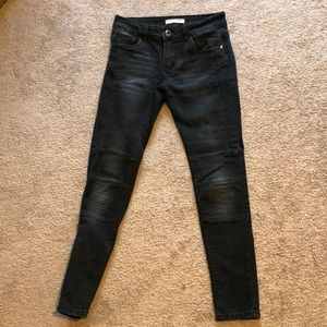 Black Moto Jeans